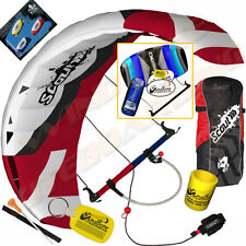 HQ Scout III 4M Power Foil Kite Kiteboarding Snowkiting Trainer Snow +2ND Kite