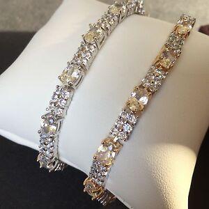 GB-White-sim-diamonds-white-or-two-tone-gold-gf-bracelet-6-5-034-8-034-BOXED-RRP-89