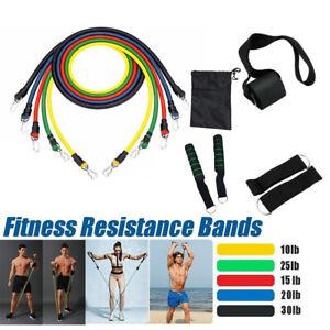 11PCS-Resistance-Band-Set-Yoga-Pilates-Latex-Exercise-Fitness-Tube-Workout-Band