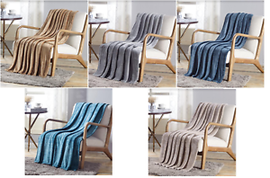 New-Solid-Premium-Throw-Blanket-Paris-Collection-50-034-x-60-034-Soft-Warm-MultiPurpose