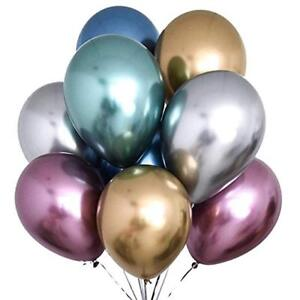 """CHROME Gold Balloons 11/"""" by Qualatex"""