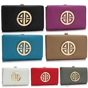 Womens Luxury Purses Faux Leather Ladies Wallet Designer New Look Large Long