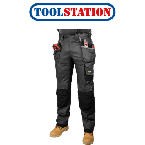 """Snickers 3212 DuraTwill Holster Pocket Trousers 38/"""" R 054 Grey"""