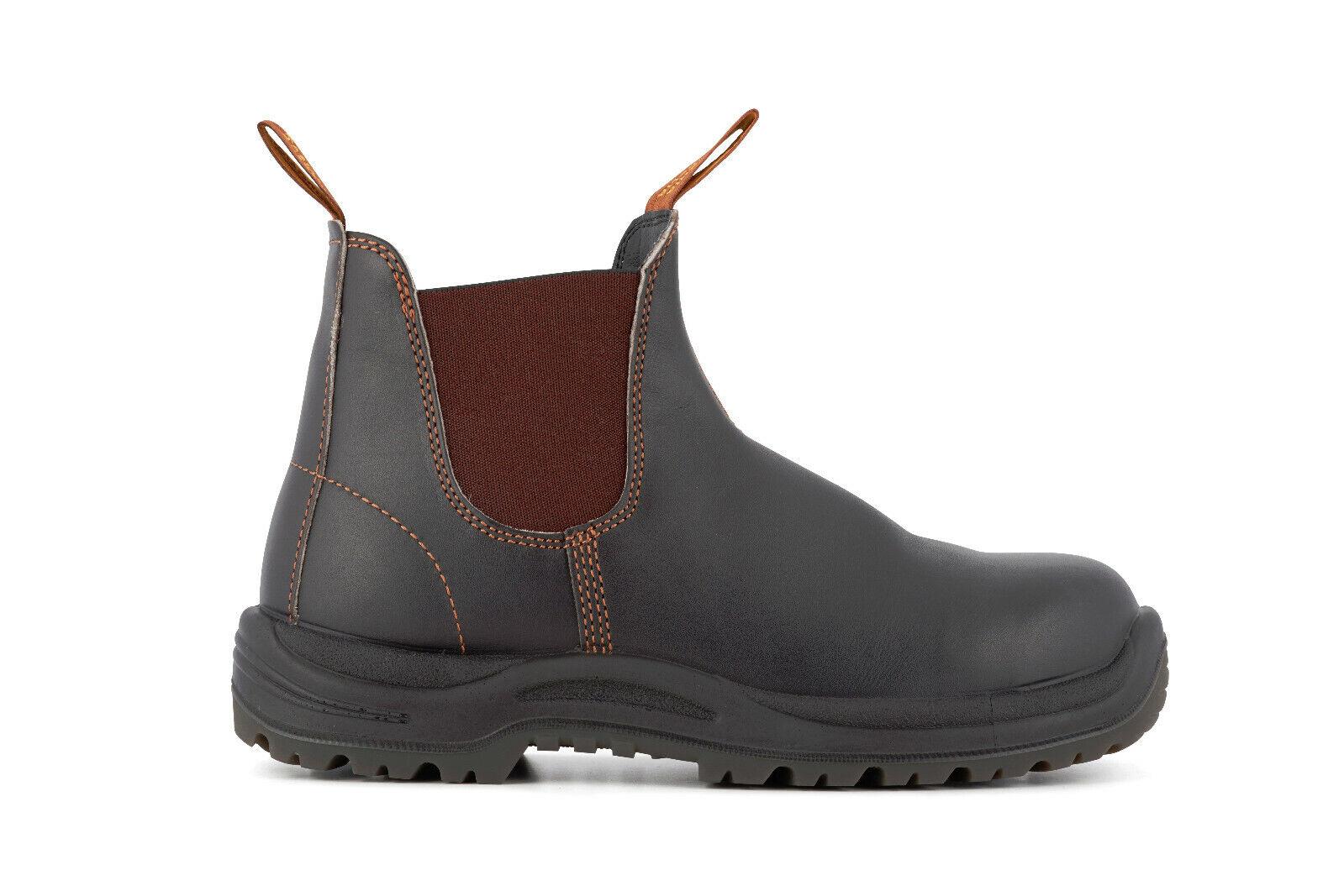 bluendstone 192 Brown Leather SBP Industrial Safety Unisex Chelsea Boot & Midsole