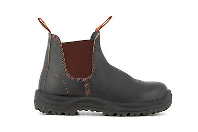 Blundstone 192 Brown Leather Sbp Industrial Safety Unisex Chelsea Boot & Midsole