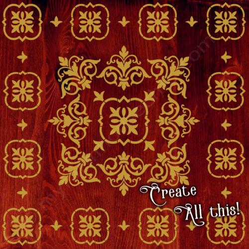Mylar Furniture Stencil Shabby Chic French Stencil Mandala Wall Stencil