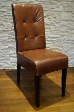 Braun  Echtleder Stuhl  100% Echt Leder stühle Esszimmer Lederstühle