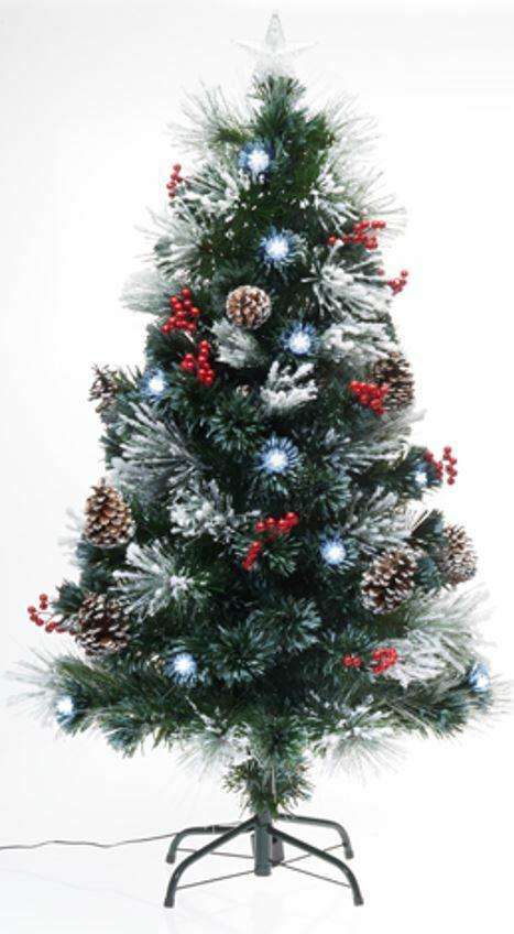 120cm LED Beleuchteter künstlicher Weihnachtsbaum Christbaum Tannenbaum Deko LED