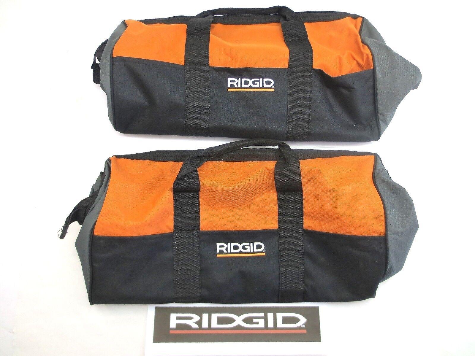 2) RIDGID LARGE (22X10X13) TOOL BAGS FOR DRILL IMPACT SAW CASE BAG 18v 18 VOLT