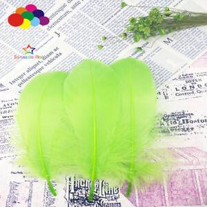 100-Pcs-Fruits-Vert-Oie-Plumes-15-20-Cm-6-8In-A-faire-soi-meme-Stade-accessoires-decor-Headress