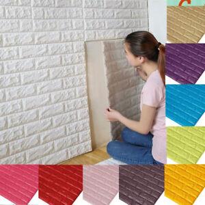 3D-XPE-Ziegel-Wasserfest-Wandaufkleber-Selbstklebend-Panel-Aufkleber-Haus-dekor
