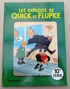 QUICK-ET-FLUPKE-LES-EXPLOITS-HERGE-10E-SERIE-REED-1966-TTBE