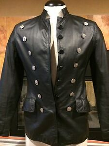 Leather S Slims Waer size Virginia collectible v black Jacket Women's 100 awA755