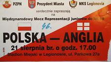 TICKET 21.8. ? U21 Polska Polen - England