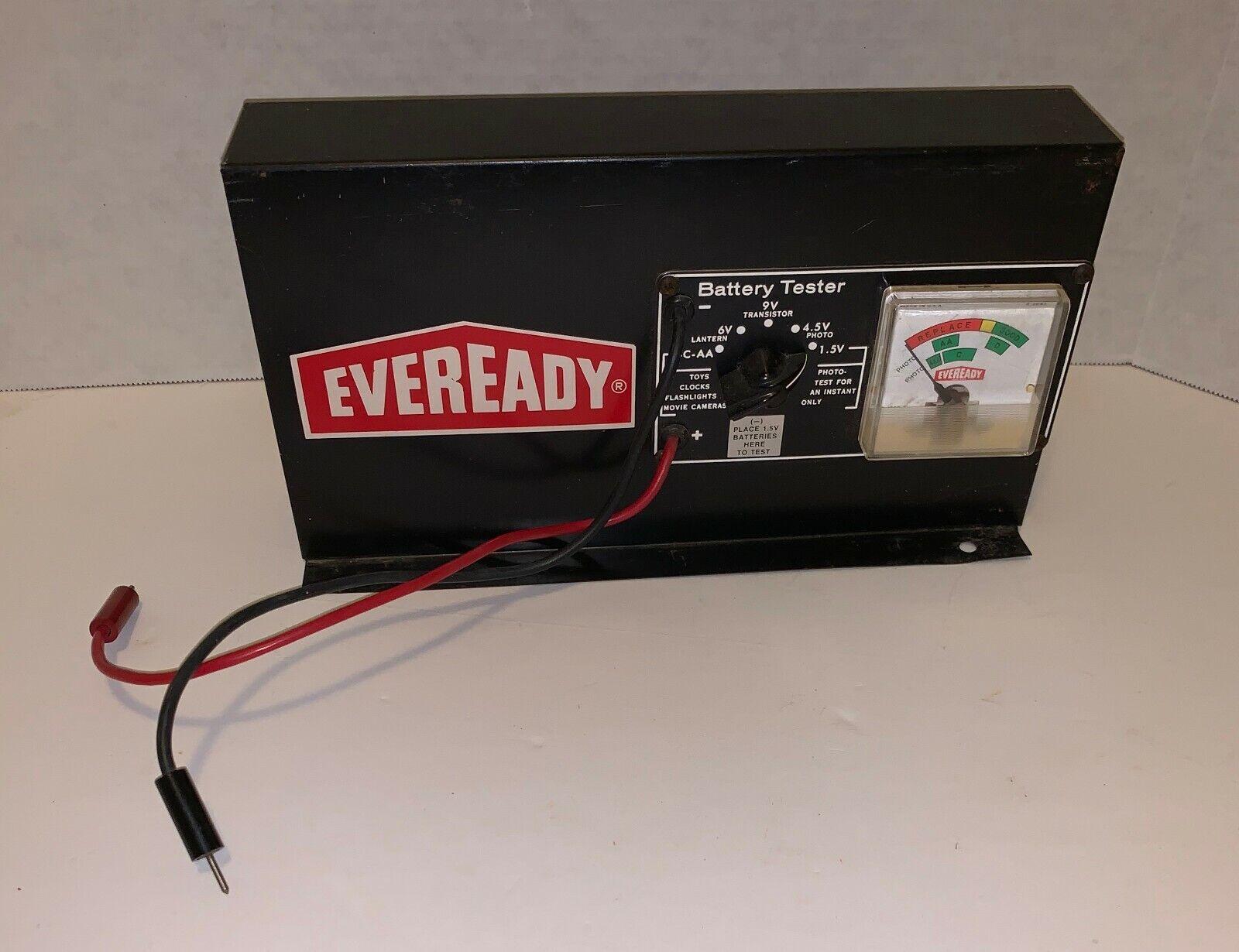Vintage Eveready Battery Tester - Works 6V, 9V, 4.5V, 1.5V - 11