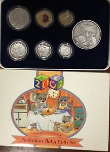 2002-Royal-Australian-Mint-6-Coin-baby-Proof-Set
