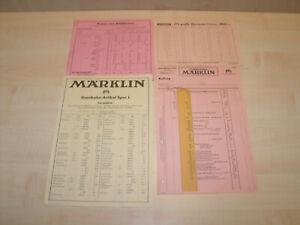 8932) Märklin - Spur 0 - 4 Stk. orig. Bestell / Preislisten - ansehen
