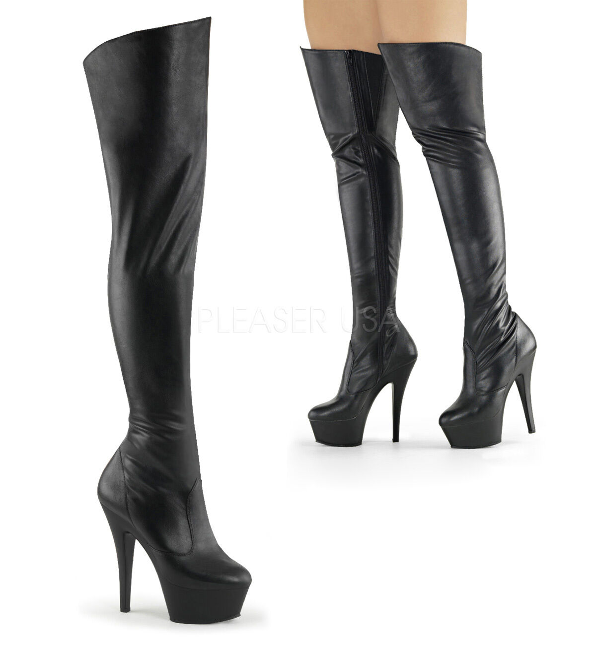 PLEASER DELIGHT KISS Thigh HEAT VANITY 3010 Sexy Thigh KISS High Stiefel 88a0b8