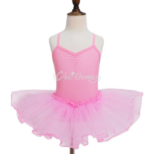 Girls Leotard Dress Ballet//Dance//Gymnastic Tutu Skirt Dancewear Costume Age 2-12
