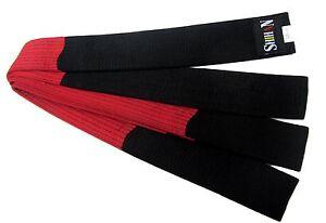 SHIHAN Karate BLACK Belt Satin 320cm with RED Embroidery Unique Dojo Dan Sensei