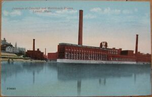 1914-PC-Mill-Concord-amp-Merrimack-Rivers-Lowell-MA