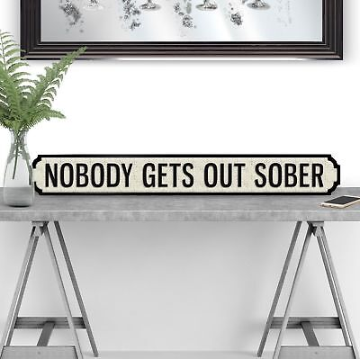 Its Only Banter Vintage Retro Style Wooden Road Street Sign Pub Mancave