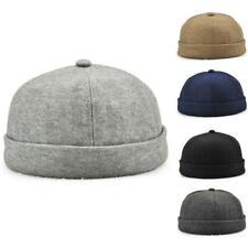 Skullcap Unique Street Casual Docker Hat Solid Brimless Cap of 2packs
