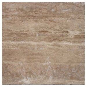SAMPLE OF IVORY VEIN CUT POLISHED TRAVERTINE TILE TILES FLOOR AND WALLS