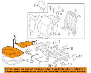 image is loading toyota-oem-13-15-prius-passenger-seat-cushion-