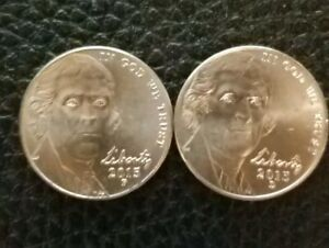 2 COINS **FREE SHIPPING** 2013 P /& D JEFFERSON NICKEL SET