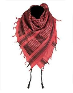 nueva productos 397b9 6d1e4 Detalles de Shemagh rojo negro - Pañuelo Palestino cuello militar ejercito  arabe casual