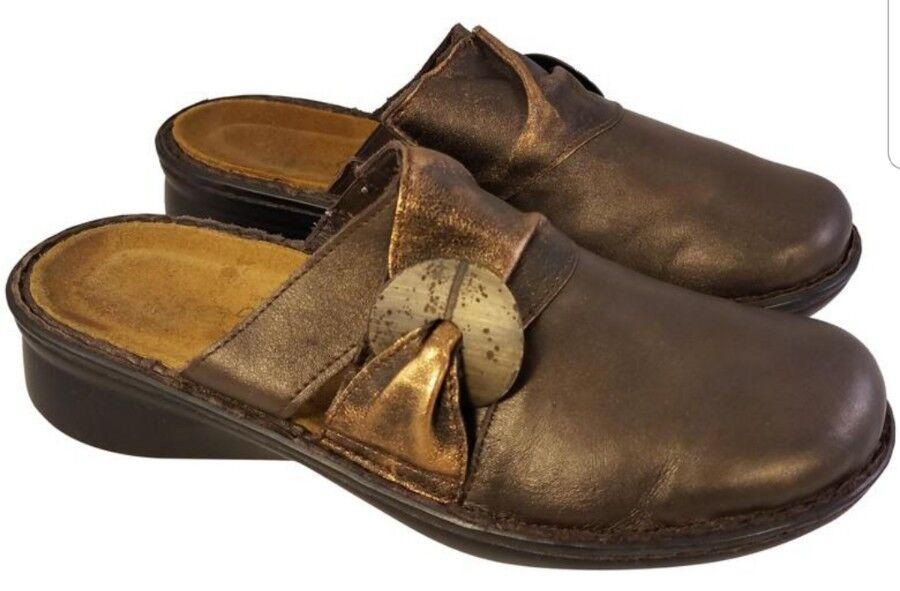 Spedizione gratuita al 100% NAOT FOOTWEAR METALLIC METALLIC METALLIC Marrone CLOGS scarpe MULES bronze 38  US 7  Sconto del 40%