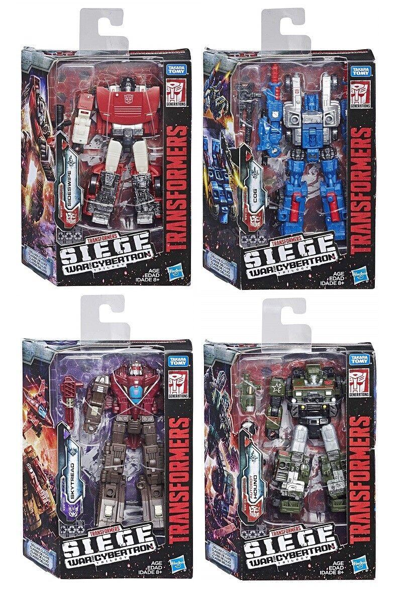 Transformers asedio guerra de Cybertron Deluxe Sideswipe, Cog, Hound, skytread conjunto de 4