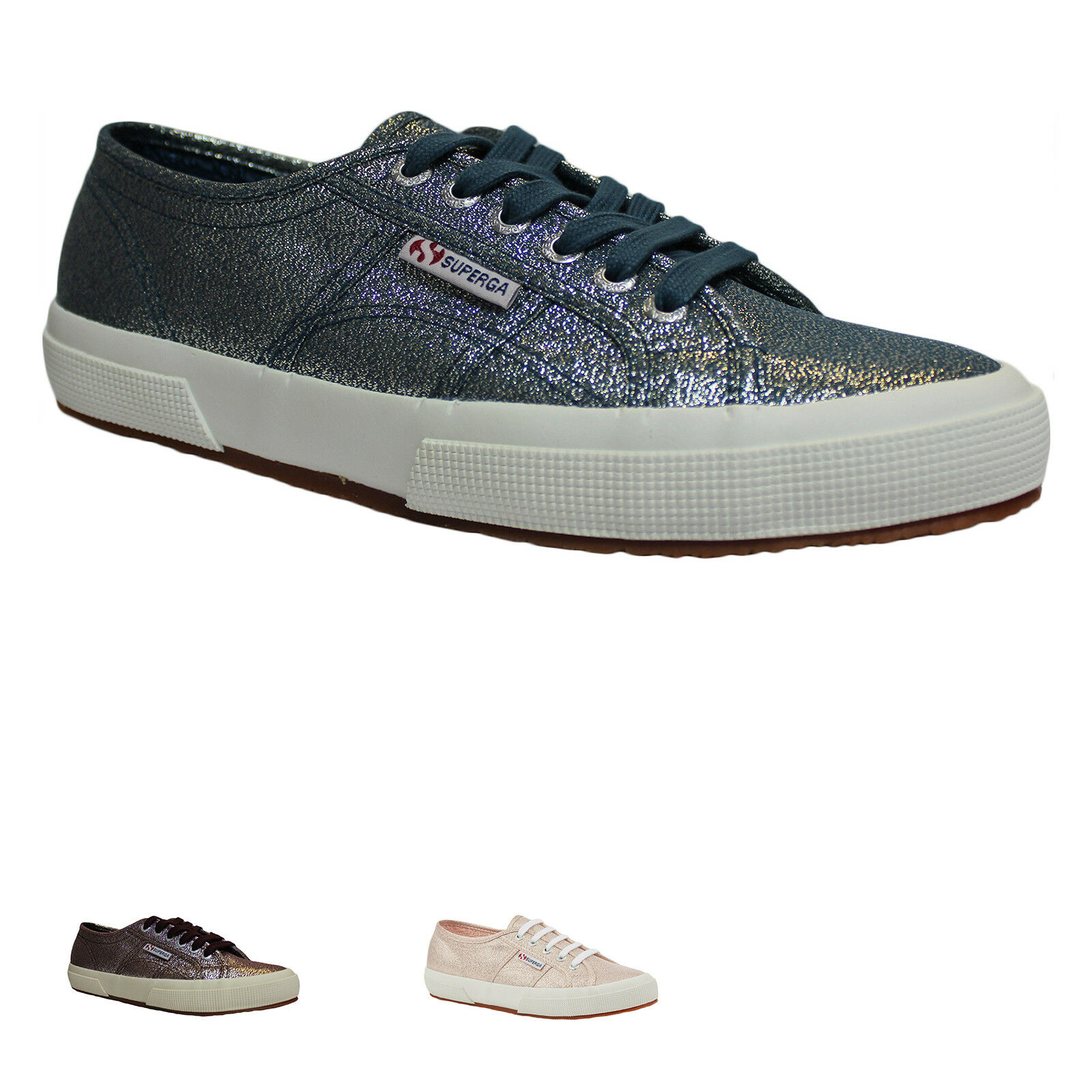 SUPERGA 2750 LAMEW Canvas Womens Mens Casual Low-Top Unisex Trainers