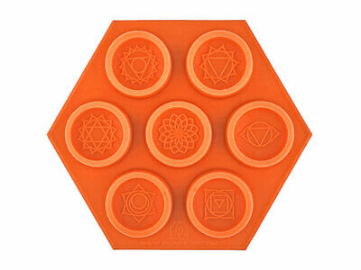 3,7cm*1,5cm Silicon Mold Chakra Candles- tablets Flower of Life Symbol Set 8 chakra symbols