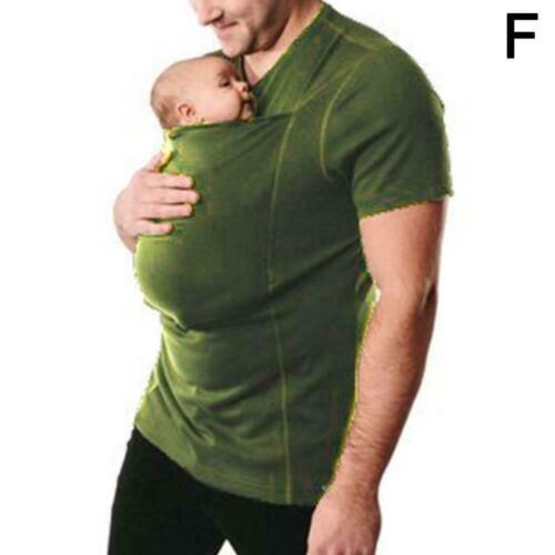 Kangaroo Pocket T-shirt For Mom Dad Top G3F8