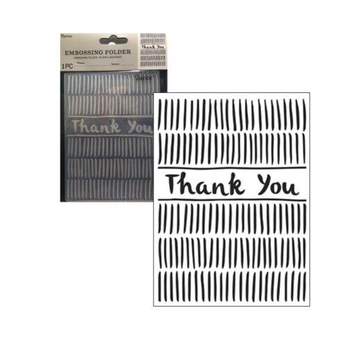 Thank You Border Embossing Folder Darice Folders Words Phrases 30041265