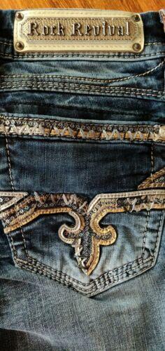 Rock Størrelse Jeans Exclusive Aleah Stretch Revival Boot Buckle Ladies 34 26 Inseam wAqTEE
