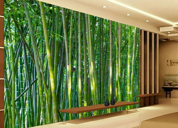 3D Foresta di bamb 33 Parete Murale Carta da parati immagine sfondo muro stampa