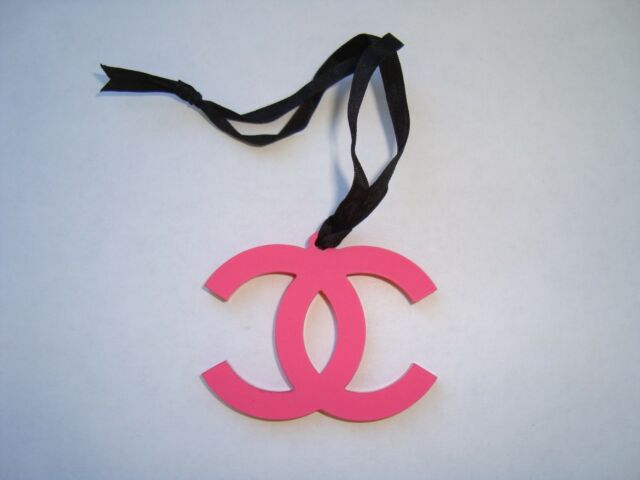 7dc7928d3d4d Frequently bought together. Chanel VIP gift CC logo plastic hot pink red  charm authentic collectible