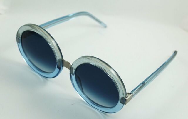3068d94f30 Wildfox Malibu Sunglasses Over-sized Round Crystal Cove Blue Frame Blue  Gradient
