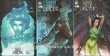 1:10 MICHAEL TURNER variant FATHOM BLUE DESCENT #2 A&B ASPEN COMIC BOOK LOT (3)