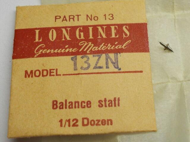 GENUINE LONGINES 13ZN CHRONOGRAPH BALANCE STAFF  NEW OLD STOCK  PART
