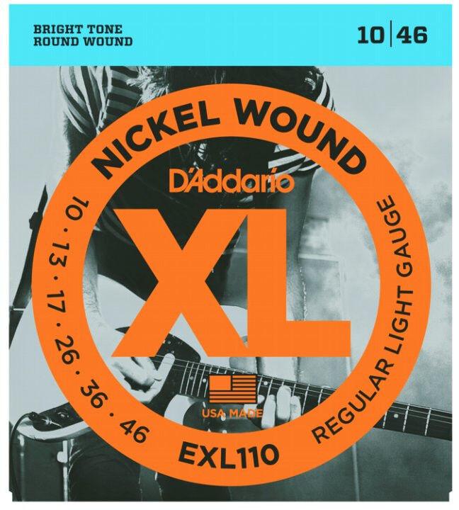 D'addario veinte juegos juegos juegos Exl110 Nickel Luz Guitarra Eléctrica Cuerdas Envío Gratis  Vuelta de 10 dias