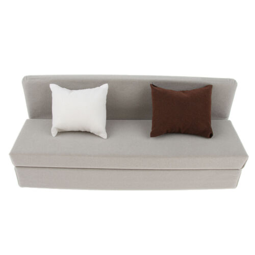 1//6 Gray Long Couch Sofa with Cushions Model for 12 INCH Hot Toys Figure