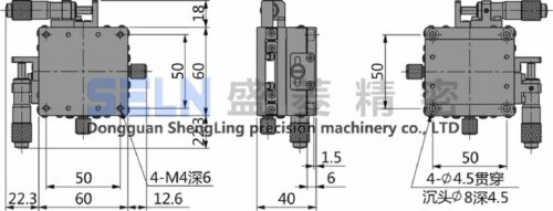 XY-Axis Stage Replacement Linear Ball Bearing Manually Platform 60x60mm #U1-9