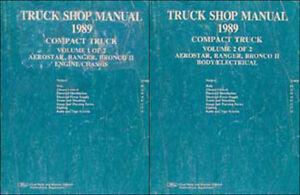 1989-Ford-Shop-Manual-Set-Ranger-Bronco-II-Aerostar-Original-Repair-Service-OEM