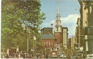 Boston-Common-Mall-Tremont-St-Boston-Massachusetts-Vintage-Unused-Postcard-SL1