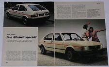 Article Articolo 1982 ALFA ROMEO ALFASUD JUNIOR / SPRINT TROFEO