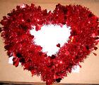 Tinsel Valentine Heart Wreath 14 inch  B319